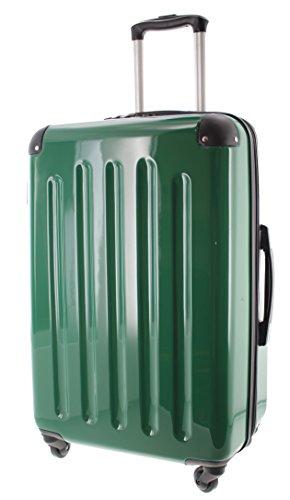 Pianeta Berlin Gr. L ABS Polykarbonat Mix Hartschalen Koffer Trolley mit 4 Rollen und TSA Zahlenschloss 5 Farben (grün)
