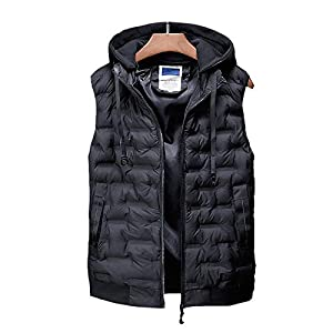 41oOCLQsAzL. SS300  - DZX Men's Electric Warm Gilet/Heating Vest,with USB Cable - For Outdoor Travel Work Camping Bike And Skiing,Black-2XL