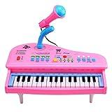 LDB SHOP Kinder Elektronisches Klavier,31 Key Elektronische Tastatur Piano Musical Spielzeug mit Mikrofon für Kinder - Rosa