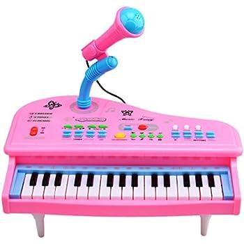 Mini Pianoforte con Microfono per Bambini Giocattolo Elettronico con 31 Tasti