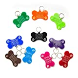 Cat Tag Dog Tags Pet ID Personalised Engraved Acrylic Plastic - Bone Shape