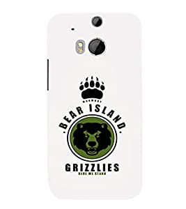 EPICCASE Bear island Grizzlies Mobile Back Case Cover For HTC One M8 (Designer Case)