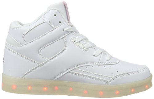 L.A. Gear Damen Flo Lights II High-Top Weiß (white/soft pink)