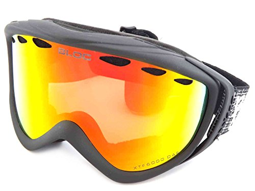 Bloc Goggles RS50 Mattschwarz Mars Visor Goggles Lens Category 3 Lens Mirrored