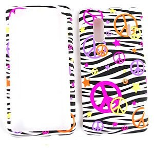 Peace Sign Schwarz/Weiß Zebra Print Design Sony Handy Fall Faceplate Cover für HTC Hero 4G/Kingdom Fall Faceplate