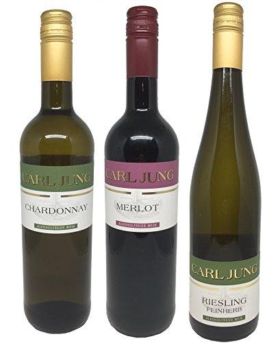Carl-Jung-alkoholfreies-Weinpaket-3x075l-Chardonnay-Riesling-Merlot-Weiwein-Rotwein