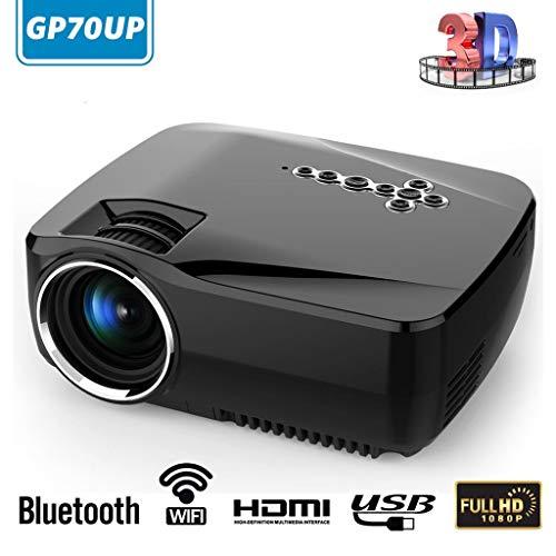 Sconosciuto YANFEN 5000 Lumen 1080p HD LED proiettore Bluetooth WiFi Android 1G 8G Portable Home Cinema Theater VI Offre Il miglior Regalo (Colore: Come da Immagine, Dimensioni: Spina EU)
