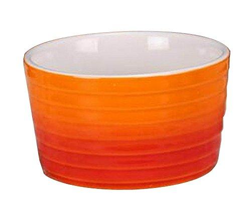 Set von 4 kreativen keramischen Dessertschalen Ramekins Baking Cups, Orange Orange Ramekin