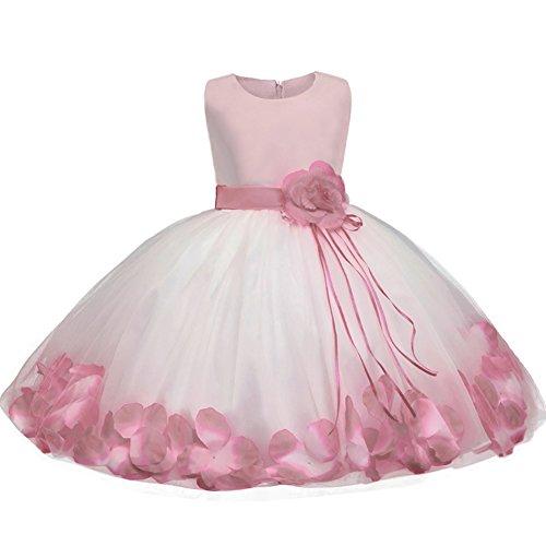 9c5213bca771 Abito Bambina Principessa Vestito da Cerimonia per Damigella con Bowknot  Floreale Abiti per Matrimonio Carnevale Natale