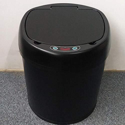 SAGALV Abfallbehälter Sensor, Edelstahl Badezimmer Haushalt Garten Office Wohnzimmer Im Freien,6L