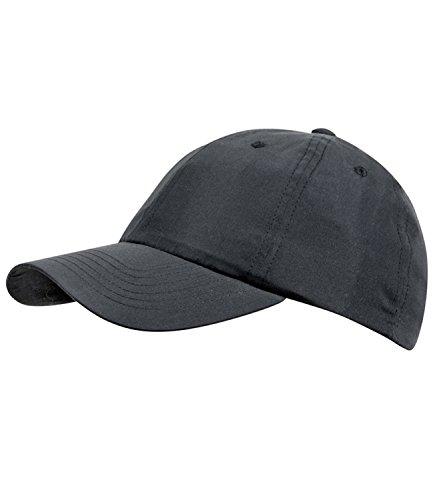 EveryHead Fiebig Herrenbasecap Basecap Baseballcap Sommercap Kappe Streetwear einfarbig One Size mit Klettverschluss für Männer (FI-47268-S16-HE2-18-58) in schwarz, Größe 58 inkl...