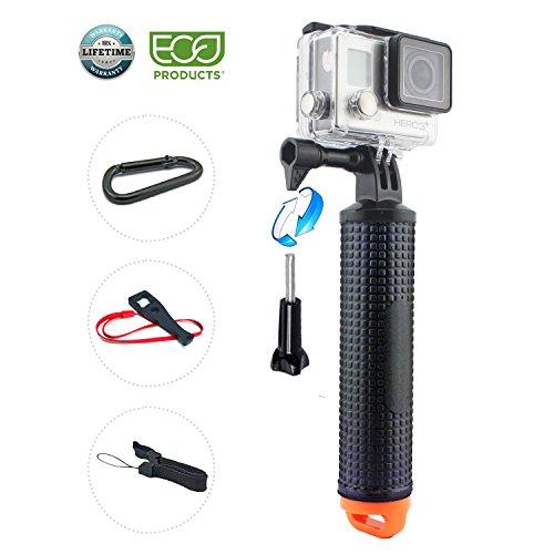 GoPro Schwimmende Hand Griff, Wasserdichte Schwimmender Unterwasser Handgriff, Strukturierter Non-Slip-Schaumstoff für EasyGrip, verstellbare Klebeband für GoPro Hero 6 5 Schwarz Session 4 3 3 + 2 1