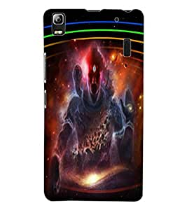 ColourCraft Lord Shiva Design Back Case Cover for LENOVO A7000 TURBO