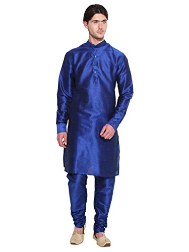 Royal Kurta Men' s Designer S Silk Blend Kurta Churidar