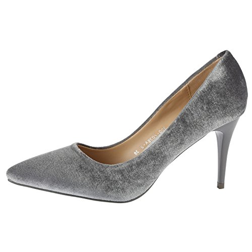 ByPublicDemand Vivienne Femme Talons hauts Chaussures de cour Gris