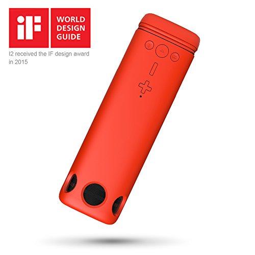 PURIDEA Altavoz Bluetooth al aire libre, 8000mAh Batería Externa, LED Linterna, micrófono integrado, Regalo del día de San Valentín PURIDEA Batería Recargable Mic incorporado para la tableta del teléfono MP3, MP4, MP5.(rojo) width=