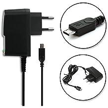 subtel® Cargador - 1.5m (2A / 2000mA) para Sony Xperia Tablet Z / Z2 / Z3 / Z4 (5V / Micro USB) Cable de carga negro