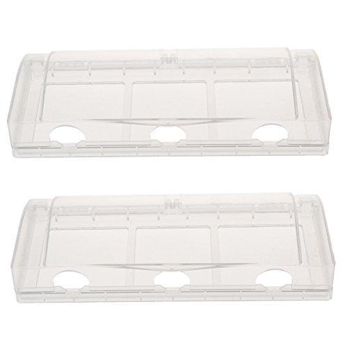 Abdeckung Platte Drei Schalter (MagiDeal Wasserdichte Steckdose / Schalter Schutz Gehäuse Fall mit 3 Löcher - Durchsichtig)