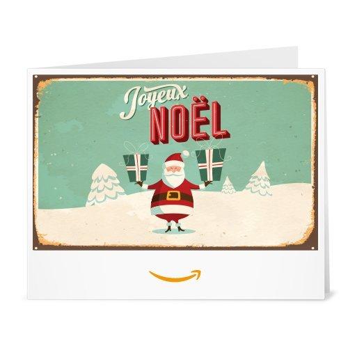 Chèque-cadeau Amazon.fr - Imprimer - Père Noël Retro