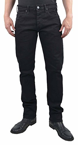 Mavi Herren Straight Jeans Marcel Blau (Black Used Ultra move 21159)