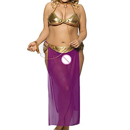 Hinweis Charaktere Kostüm Und - WHWH Big Size Sexy Unterwäsche Harem Slave Sex Anzug Adult Game Charakter Kostüm Sexy Versuchung Kostüm,Purple-XL