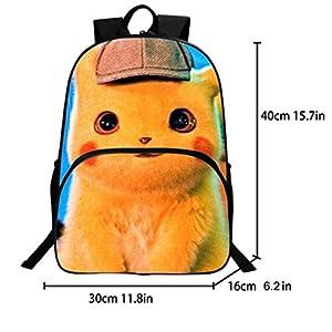 41oOM2iiVrL. SS300  - Mochila Pokemon para niños, adolescentes, niñas, niños, Detective Pikachu Eevee, mochilas de ordenador portátil para…
