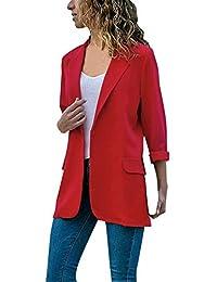 Mujeres Blazer Elegante Oficina Traje de Chaqueta Outwear Casual STRIR 20803b7220d6