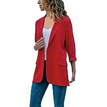 Mujeres Blazer Elegante Oficina Traje de Chaqueta Outwear Casual STRIR 8d301bdd4f12e