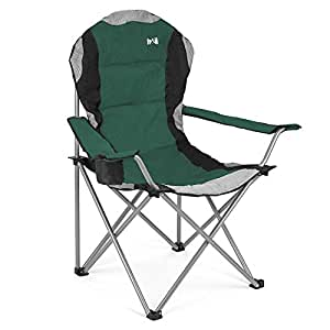 Luxury Padded Folding Camping Chair Heavy Duty High Back Directors Cup Holder