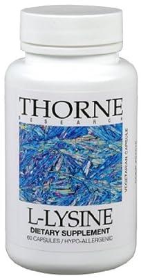 Thorne Research L-Lysine 60 Vegetarian Capsules(Product Packaging: Standard Packaging)