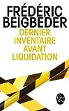 """Afficher """"Dernier inventaire avant liquidation"""""""