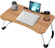 Laptop Table, Breakfast Bed Table, Bed Tray, Bed Table, Eating Tray, Laptop Stand, Portable Multipurpose Woode