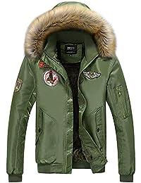 Tomwell Hiver Rembourré Homme Manteau Chaud Parkas Épais Veste Trench  Outwear Bomber Militaire Blousons Parka À 1f5d8be69fe1