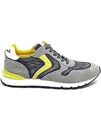 Voile Blanche Scarpa Uomo Liam 9102 Sneaker camoscio e Nylon Grigio E8102 57d7c15fb48