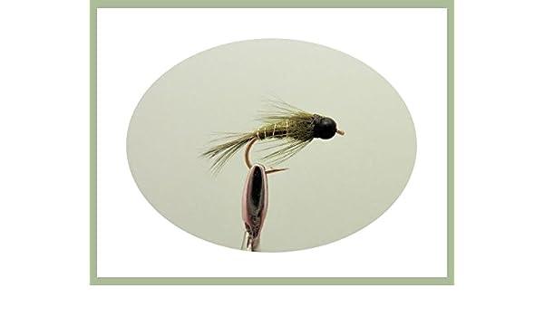 Fly Fischen Nymphe Auswahl 32 Packung Forellen Fliegen inklusive Perlen Köpfe #