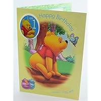 Gemma International Winnie the Pooh 1 Birthday Card
