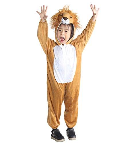 Ikumaal AN73 Löwen-Kostüm An73 für Kinder Karnevalskostüme, Beige, (Löwen Kostüm Für Kinder)
