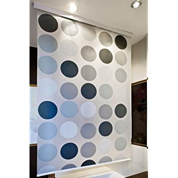 halb kassetten duschrollo 60 cm extra breit modell retro duschvorhang grau weiss anthrazit. Black Bedroom Furniture Sets. Home Design Ideas