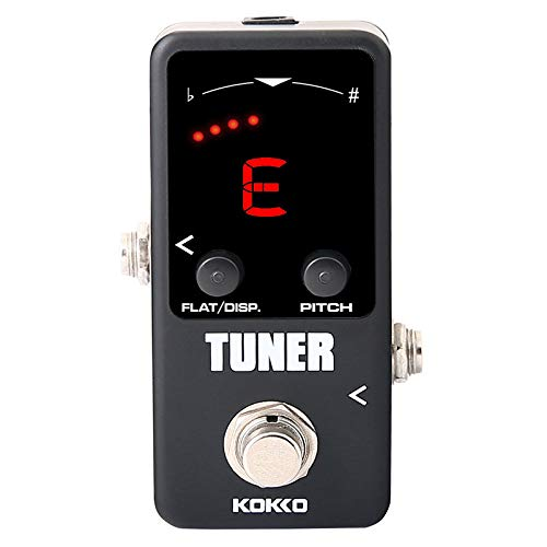 Musikinstrument,TwoCC Pedal Tuner Mini Effekt Für Gitarre Bass Tuning By Pass Nonne Mini