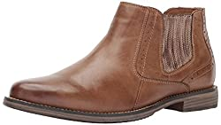 Steve Madden Paxton Chelsea Boot Camel Leather 7.5 D(M) US