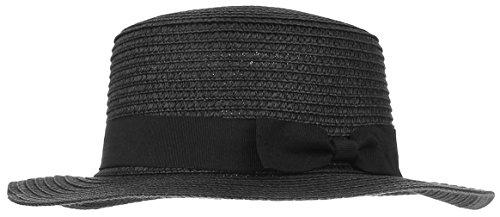 La Vogue Sombrero de Paja Panamá Mujer Unisex Sunhat Verano Talla Única Negro