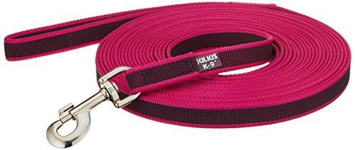Artikelbild: Julius K9 216GM-PN-S10, Color & Gray gumierte Leine, pink-grau, 20 mm x 10 m mit Schlaufe, max für 50 kg Hunde