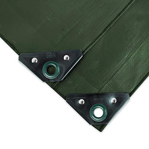 NOOR Abdeckplane SUPER 200g/m² Grün I 2 x 2 m I Allzweckplane für Schutz vor Witterung I Ideal geeignet für den Gartenbereich I UV-stabilisiert, beidseitig beschichtet, wasserfest & abwaschbar