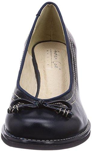 Andrea Conti - 0598007, Scarpe col tacco Donna Blu (Blau (dunkelblau 017))
