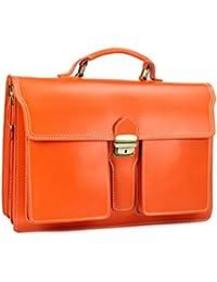 """BELLI® """"Design Bag B"""" ital. Leder Businesstasche Aktentasche Lehrertasche unisex - Farbauswahl - 40x30x14 cm (B x H x T)"""