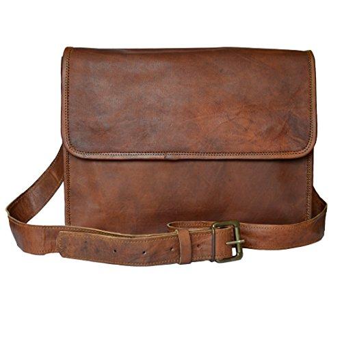 Mad Over Shopping, Neue Kollektion Echtes Leder Vintage Messenger Schulter Crossbody Flap Bag (Bag Flap)