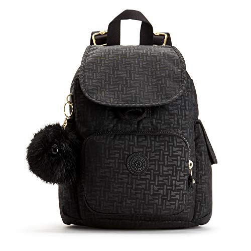 Kipling - City Pack Mini, Mochilas Mujer, Negro (Black Pylon Emb), 14x27x29...