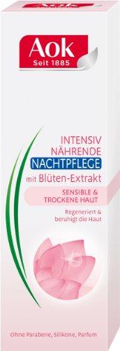 Aok Intensiv Nährende Nachtpflege mit Blüten-Extrakt, 3er Pack (3 x 50 ml)
