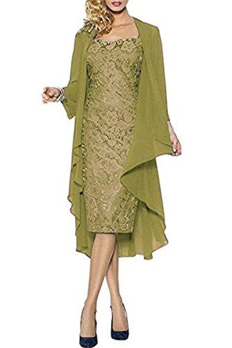 CoCogirls - Robe - Chemise - Femme Olive