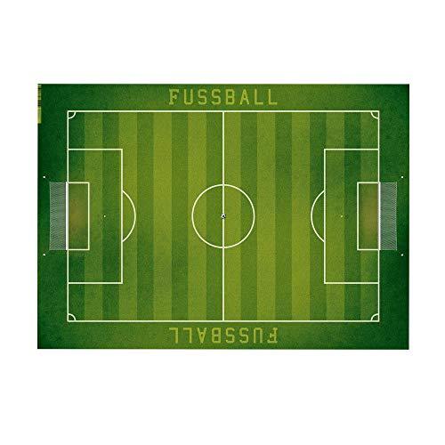 trendaffe Fussball Schreibtischunterlage mit 25 Blatt - Fussballfeld Schreibunterlage Bolzplatz